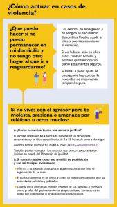 Guía ilustrada de ¿Como actuar en casos de violencia?