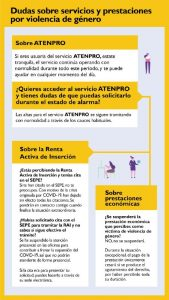 Guía ilustada sobre dudas sobre servicios y prestaciones por violencia de género.