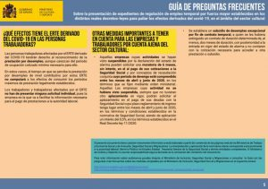 Guía de preguntas frecuentes en los ERTES provocados por la crisis sanitaria.