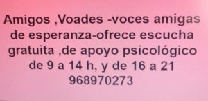 VOADES telf. atención psicológica 968 970 273
