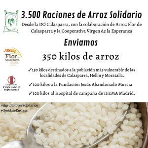 350 kg. donadados e imagen del arroz de calasparra