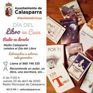 Imagenes de cubiertas de libros e info. de la programación de radio a las 11.00 h el 23 de abril