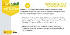 Medidas para Motociclietas y ciclomotores.