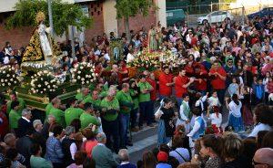 La Virgen esperando a los Santos, a la entrada del municipio.