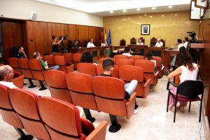 Distribución de los concejales en el pleno celebrado en Calasparra, en la nueva normalidad