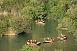 Rafting en el Cañón de Almadenes realizado por Cañón y Cañón Multiaventura.